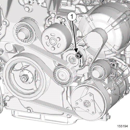 Schéma Courroie Accessoire TCE90 remplacement courroie accessoire tce 90