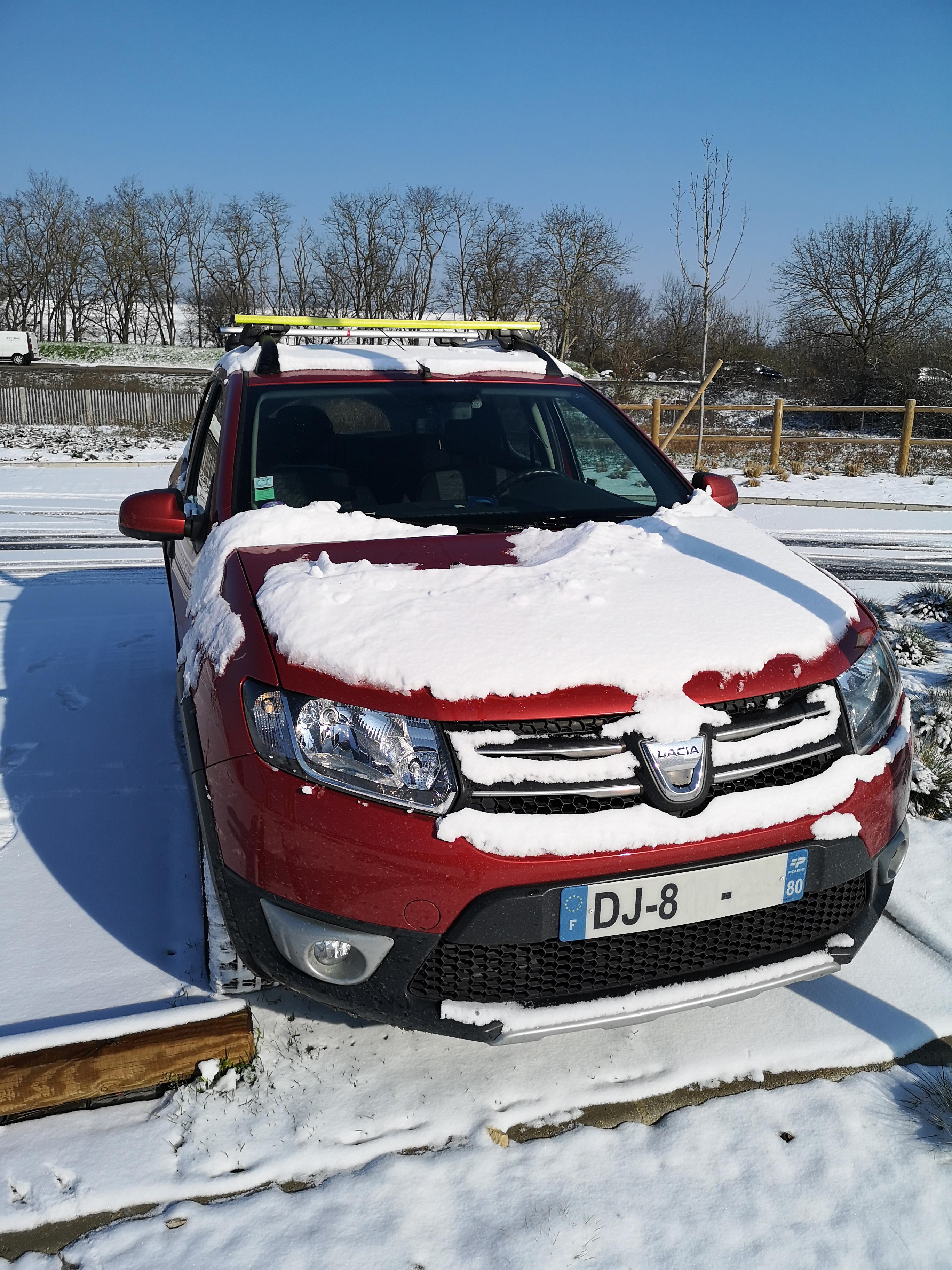 Dacia Sandero neige snow